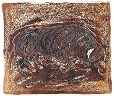 Toro 15-2003  Dibujo Técnica mixta por PINACOTHECULA en Etsy