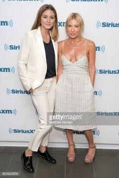 Olivia Palermo and Tracy Anderson visit SiriusXM Studios on July 31 2017 in New York City