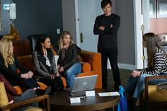 Troian Bellisario, Janel Parrish, Sasha Pieterse, Ashley Benson, and Tyler Blackburn in Pretty Little Liars Troian Bellisario, Shay Mitchell, Ashley Benson, Caleb And Spencer, Lucy Hale Photos, Watch Pretty Little Liars, Cool Lock, Abc Family, Popular Shows
