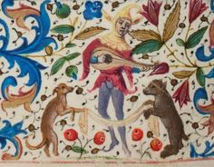 from the Trivulzio Hours f.86v lluminated in Flanders c.1470. Den Haag, Koninklijke Bibliothek, SMC 1 -- image via KB website