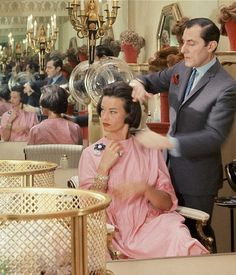 Gloria Vanderbilt at the House of Revlon in Saks Fifth Avenue, photo by Horst, 1961