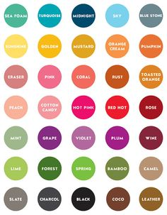 love the simple names of color....