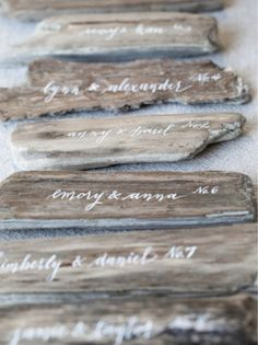 Drift wood with quotes