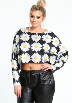 plus-size fringed crop top,black/white,large   clothes   pinterest