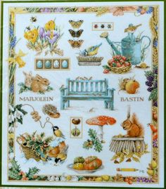 The Four Seasons - Marjolein Bastin by Lanarte - Kit #115604 - Counted Cross Stitch - 28ct. Evenweave - CDA/US Free Shipping