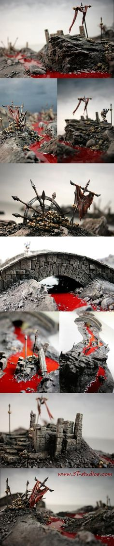 Blood, Bones, Chaos, Khorne, Modular, Pikes, River, Scratch Build, Skull, Terrain, Wasteland