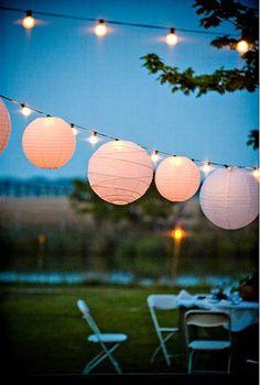 more lanterns...fairy lights too