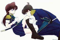 Ran And Shinichi, Kudo Shinichi, Detective Conan Ran, Detective Conan Wallpapers, Kaito Kid, Magic Kaito, Case Closed, Love Illustration, Cute Anime Couples