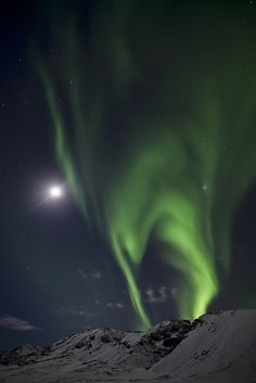 Northern Lights that look almost like a helm.