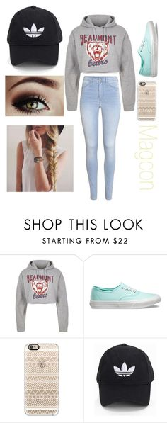 """Amanda's Six Flags"" by emmagrayy on Polyvore featuring River Island, Vans, Casetify, adidas Originals and H&M"