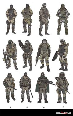 Russia Soldier Design Sketch, HanG Wang on ArtStation at… Armor Concept, Concept Art, Character Concept, Character Art, Futuristic Armour, Sci Fi Armor, Future Soldier, Military Gear, Metal Gear Solid