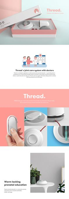 "Prenatal care service ""Thread"" on Behance"
