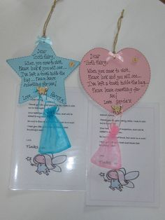 Personalised tooth fairy Plaque with personalised letter from