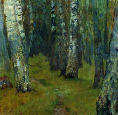 The Athenaeum - Birch Trees (Isaak Levitan - ) Russian Landscape, Landscape Art, Landscape Paintings, Green Paintings, Villa Romaine, Enchanted, Oil Painting Reproductions, Russian Art, Museum Of Fine Arts