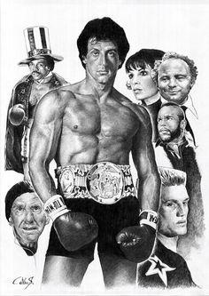 Hollywood Champion of the World - Rocky Balboa Rocky Sylvester Stallone, Stallone Rocky, Rock Balboa, Rocky And Adrian, Stallone Movies, Movie Stars, Movie Tv, Rocky Film, Silvester Stallone