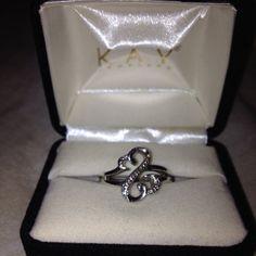d00dee9ea Kays Open Heart Ring Open Heart Ring by Jane Seymour 1/20 ct tw Diamonds