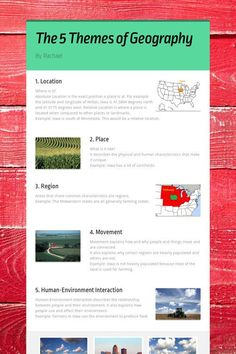The 5 Themes of Geography Five Themes Of Geography, Us Geography, Ap Human Geography, Geography Activities, Geography Lessons, Teaching Geography, Geography Worksheets, 7th Grade Social Studies, Social Studies Worksheets