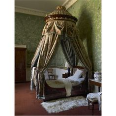 Chatsworth House ~ The Queen of Scots Dressing Room at Chatsworth House.