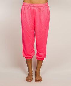 Look what I found on #zulily! Pink Crop Sweatpants #zulilyfinds
