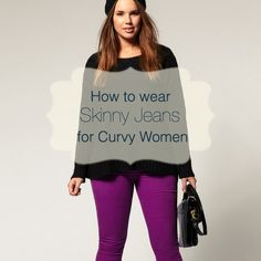 Are you a curvy woman, and just for the record you can be curvy at any size. Yes, even curvy is a wide spectrum of women sizes. But being curvy are you mislead by the name skinny jeans? Let's break. Black Women Fashion, Curvy Fashion, Look Fashion, Plus Size Fashion, Fashion Tips, Fashion Bloggers, Fashion Fall, Fashion Trends, Womens Fashion