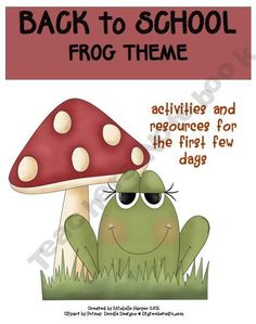 Back to School Pack Frog Theme