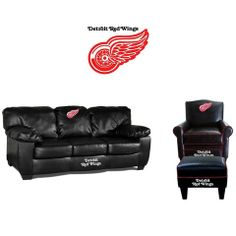 Detroit Red Wings Leather Furniture Set