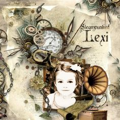 Steampunked Lexi | Digital Scrapbooking at Scrapbook Flair using Soft Metal by G Designs - at escape and scrap