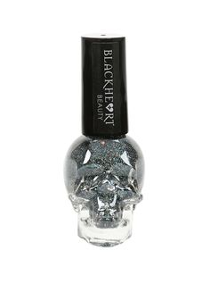 Blackheart Beauty Black Base With Blue Glitter Nail Polish | Hot Topic