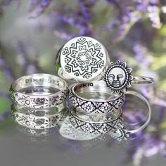 ❉ Boho dreaming ❉ N E W I N  Summer vibing with our beautiful detailed rings  Add these special little ladies to your collection!  ✒ www.shopdixi.com // sun ring // boho // bohemian // sterling silver // mandala // hippie // gypsy // stacking
