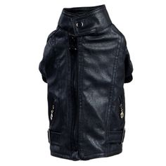 Inifinitie Pet Dog PU Leather Warm Coat Outfit Clothing Apparel Jacket Costume -- Review more details here : Dog coats