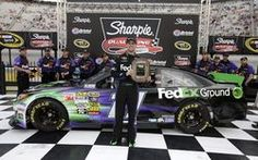 Hamlin posted a 14.878 second lap at 128.969 mph