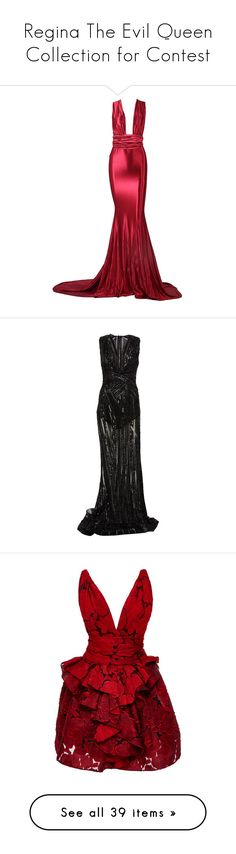 """""""Regina The Evil Queen Collection for Contest"""" by eventyrdamen ❤ liked on Polyvore featuring art, dresses, gowns, long dress, vestidos, white formal gowns, formal gowns, long formal dresses, formal evening gowns and long evening dresses"""