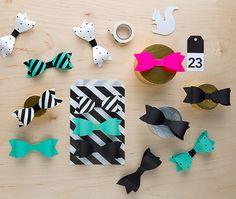 Ihanat paperirusetit viimeistelevät paketin | DIY paper bows #freeprintable #paperbows #popupkemutdiy
