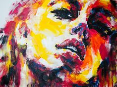 Using bright acrylics on canvas, Olga captures the beauty of the strong, modern woman. Description from artsy.net. I searched for this on bing.com/images