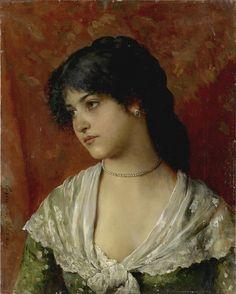 Eugen von Blaas (Albano, 1843– Venice, 1931) - Venetian Woman by ARTECULTURA, via Flickr