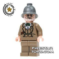 LEGO Indiana Jones Mini Figure - Henry Jones Sr | Indiana Jones LEGO Minifigures | LEGO Minifigures | FireStar Toys