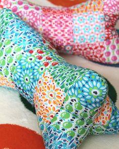 DIY: Patchwork-Leseknochen - Nähen bei DaWanda