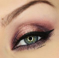 rose gold and dark copper. really nice. valentines http://www.makeupbee.com/look.php?look_id=77701
