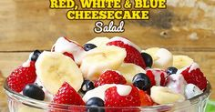 1 package cream cheese 1 package instant cheesecake pudding, unprepared 1 cup International Delight French Vanilla Creamer 1 pound strawberries, cut into bite-size pieces 2 containers blueberries 4 large bananas, sliced juice of 1 lemon Cream Cheese Fruit Salad, Fruit Salad With Cream, Creamy Fruit Salads, Fruit Salad Recipes, Smoothie Recipes, Dessert Recipes, Fresh Fruit, Churros, Fresco