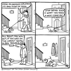 Created by Rupert Fawcett, Off The Leash (all rights reserved) a daily cartoons range featuring real conversations between dogs! Dog Quotes, Animal Quotes, Best Dog Breeds, Best Dogs, Funny Animal Pictures, Funny Animals, Animal Pics, Secret Life Of Dogs, Doberman Mix
