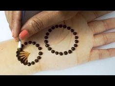 Very beautiful Henna design for hand using cotton bud. Learn how to draw Mehandi using cotton bud trick! Wedding Henna Designs, Mehndi Designs For Kids, Indian Mehndi Designs, Mehndi Design Pictures, Mehndi Designs For Fingers, Henna Tattoo Designs, Mehndi Simple, Simple Arabic Mehndi Designs, Beautiful Mehndi Design