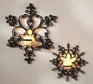 Snowflake Candle Sconce