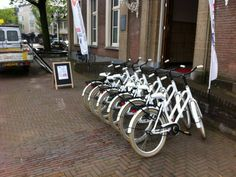 De loop zit er nog niet echt in bij de fietsenverhuur van de bibliotheek in Veghel.