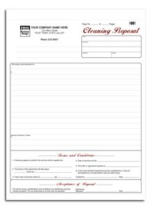 5523; Cleaning Proposal form
