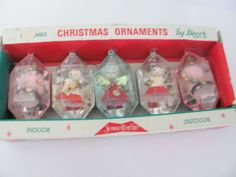 Vintage Christmas Ornaments 1960's Jewelbrite by ThirstyOwlVintage