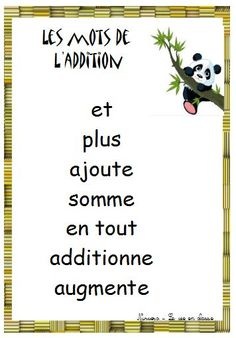des mots pour les opérations                                                                                                                                                      Plus French Teaching Resources, Math Resources, Math Activities, Learning French, Kids Learning, Math Numbers, Learning Numbers, Math College, Math Quotes