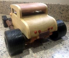 Handmade Wooden Toy Car, Hill Billy Hot Rod, Deuce Coupe #odinstoyfactoy #tallahassee #florida #handmade #handcrafted #woodentoy #toys #hotrod #woodentoys