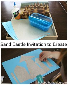 Sand Castle Invitation to Create Summer Activities For Kids, Summer Kids, Preschool Activities, Crafts For Kids, Arts And Crafts, Sand Crafts, Boredom Busters, Activity Ideas, Business For Kids