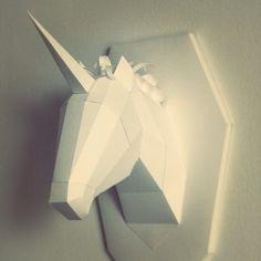 paper model unicorn 3d diy
