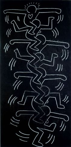Untitled, 1985  Chalk on Paper